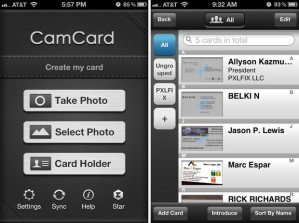 CamCard-user-interface